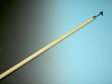 Tegelritzer De WIT met T-steel 135 cm