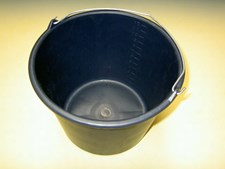 Bouwemmer GRIPL.12liter zwart+hengsel